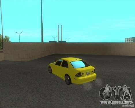 Lexus IS300 tuning para GTA San Andreas vista posterior izquierda