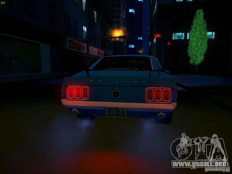 Ford Mustang Boss 429 1970 para vista lateral GTA San Andreas
