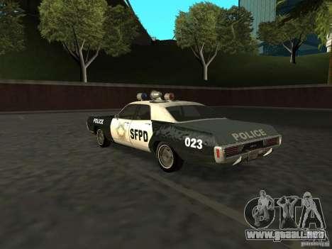 Dodge Polara Police 1971 para GTA San Andreas left