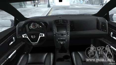 Cadillac CTS para GTA 4 visión correcta