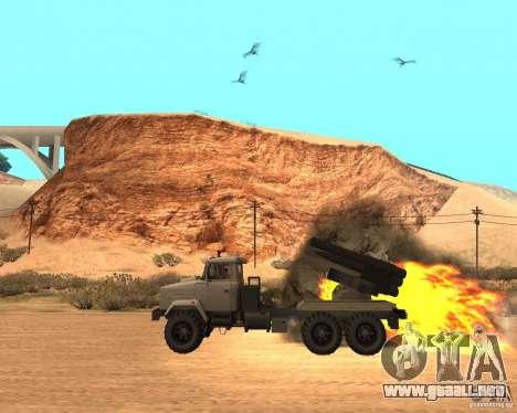 KrAZ-63211 JAMZ v. 1 para GTA San Andreas left