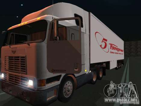 International Navistar 9800 para visión interna GTA San Andreas