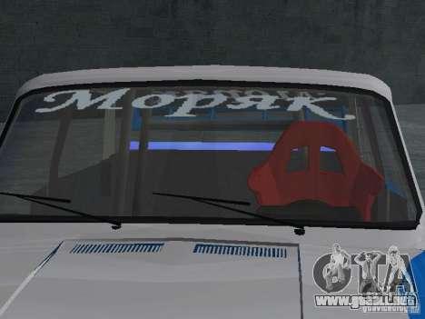 VAZ 2101 marinero para la visión correcta GTA San Andreas