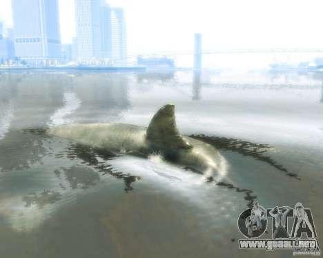 Megalodon para GTA 4 Vista posterior izquierda