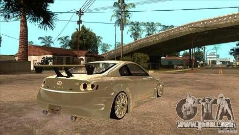 Infiniti G35 para la visión correcta GTA San Andreas
