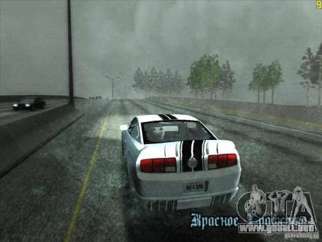 ENBseries v0.075 v3 para GTA San Andreas sucesivamente de pantalla