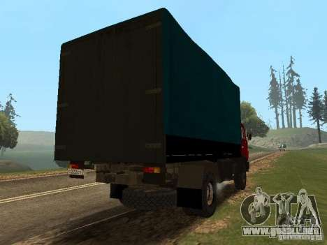 KAMAZ 5325 para GTA San Andreas vista posterior izquierda