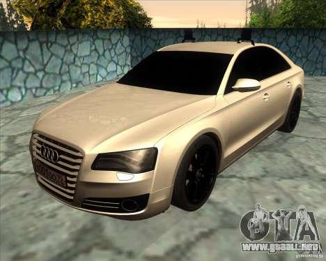 Audi A8 2010 v2.0 para GTA San Andreas