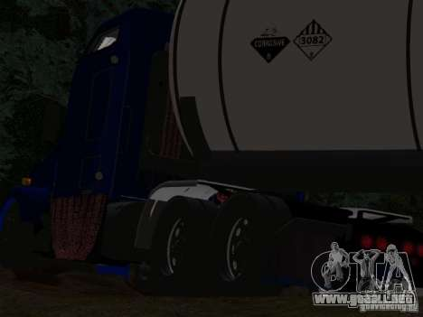 Kenwort T800 Carlile para vista inferior GTA San Andreas