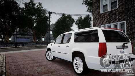 Cadillac Escalade ESV para GTA 4 left