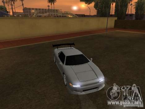 Infernus nuevo HD para GTA San Andreas vista posterior izquierda