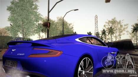 Aston Martin Vanquish V12 para visión interna GTA San Andreas