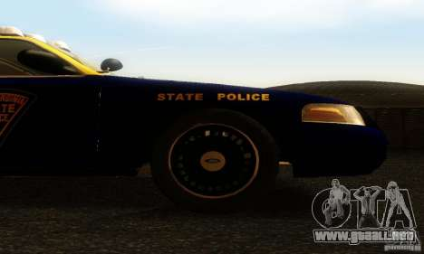 Ford Crown Victoria West Virginia Police para la visión correcta GTA San Andreas