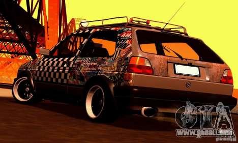 Volkswagen MK II GTI Rat Style Edition para visión interna GTA San Andreas