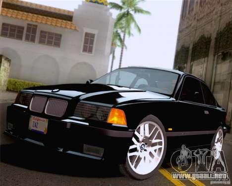 BMW M3 E36 New Wheels para vista inferior GTA San Andreas