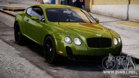 Bentley Continental SS 2010 Suitcase Croco [EPM] para GTA 4 vista hacia atrás