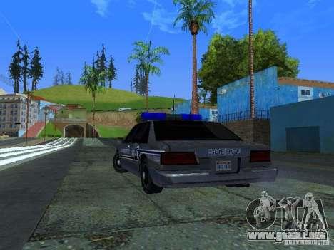 Lumpkin Country Sheriffs Office para GTA San Andreas vista posterior izquierda