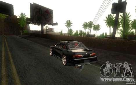 Nissan Silvia S13 Onevia para GTA San Andreas vista hacia atrás