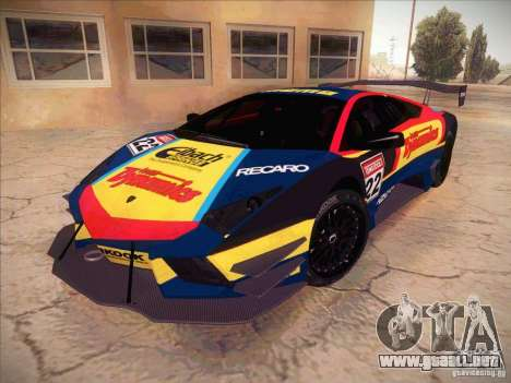 Lamborghini Reventon GT-R para visión interna GTA San Andreas