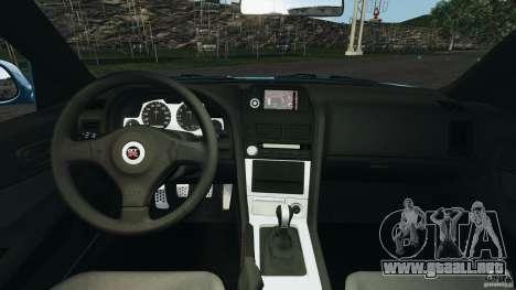 Nissan Skyline GT-R R34 2002 v1.0 para GTA 4 vista hacia atrás