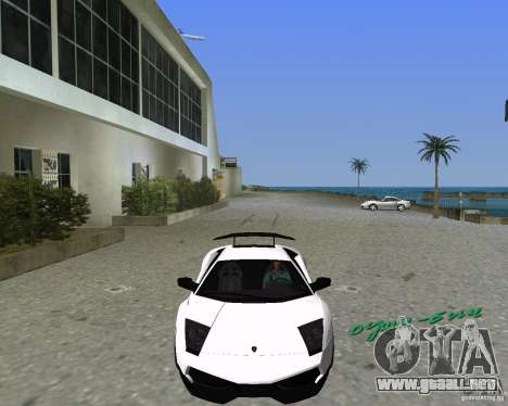 Lamborghini Murcielago LP670-4 SV para GTA Vice City left