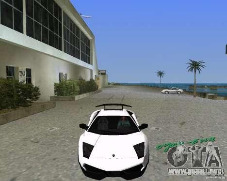 Lamborghini Murcielago LP670-4 SV para GTA Vice City left