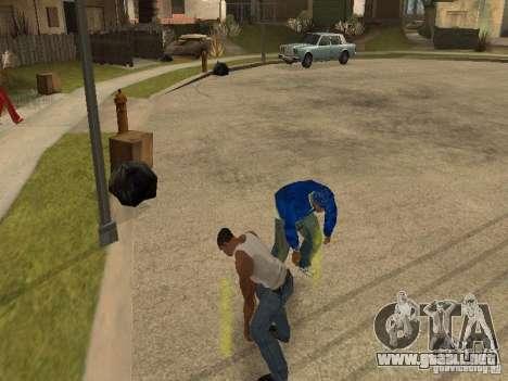 Puede sentarse, fumar, beber whisky, vómitos, es para GTA San Andreas sucesivamente de pantalla