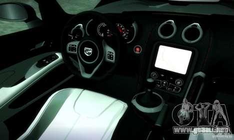 Dodge Viper SRT  GTS para visión interna GTA San Andreas