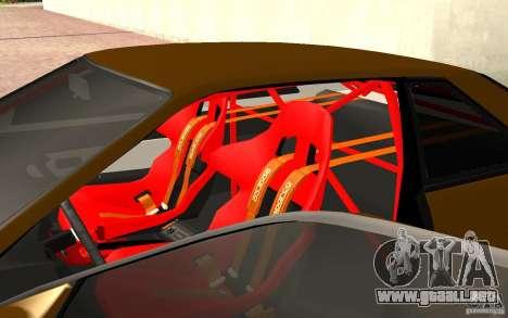 Nissan Silvia S13 Crash Construction para GTA San Andreas vista hacia atrás