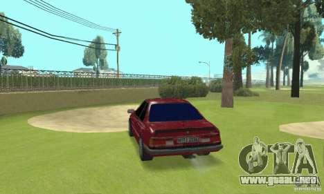 BMW M6 E24 stock para GTA San Andreas vista posterior izquierda