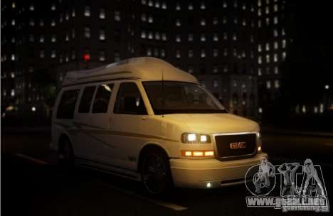 GMC Savana para GTA 4 vista superior