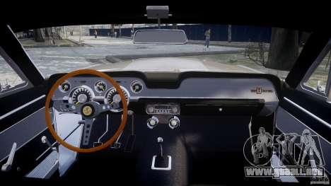 Shelby GT500 1967 para GTA 4 visión correcta
