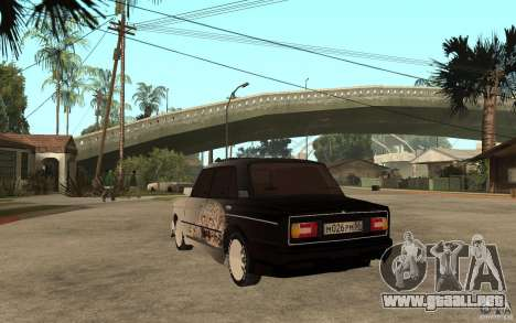 VAZ 2106 duro afinado para GTA San Andreas vista posterior izquierda
