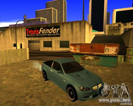 BMW M3 E90 pickup para GTA San Andreas left