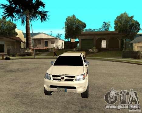 Toyota Hilux 2010 para GTA San Andreas vista hacia atrás