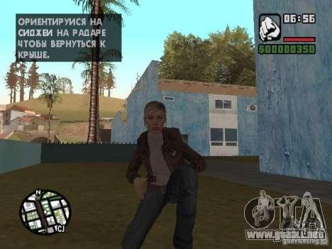 Lucy Stillman in Assassins Creed Brotherhood para GTA San Andreas quinta pantalla