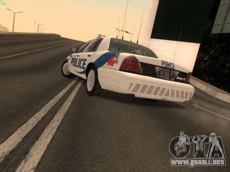 Ford Crown Victoria Vancouver Police para GTA San Andreas left