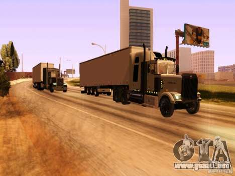 Western Star 4900 para vista lateral GTA San Andreas