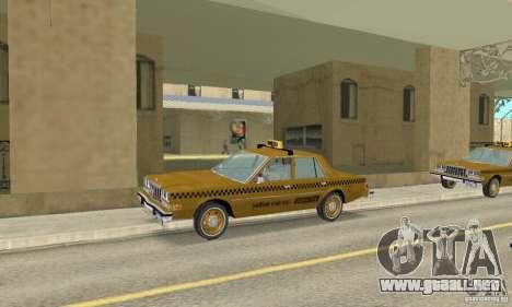 Dodge Diplomat 1985 Taxi para la visión correcta GTA San Andreas