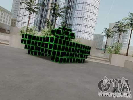Pixel Tank para GTA San Andreas vista posterior izquierda