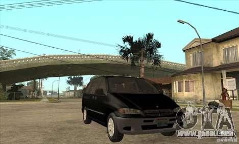 Dodge Caravan 1996 para GTA San Andreas vista hacia atrás