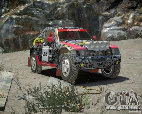 Mitsubishi Pajero Proto Dakar EK86 vinilo 1 para GTA 4 vista interior