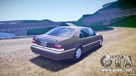 Mercedes Benz SL600 W140 98 performance shafter para GTA 4 vista lateral