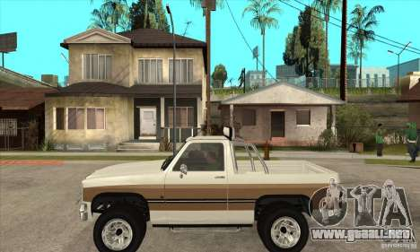 Ford Ranger para GTA San Andreas left