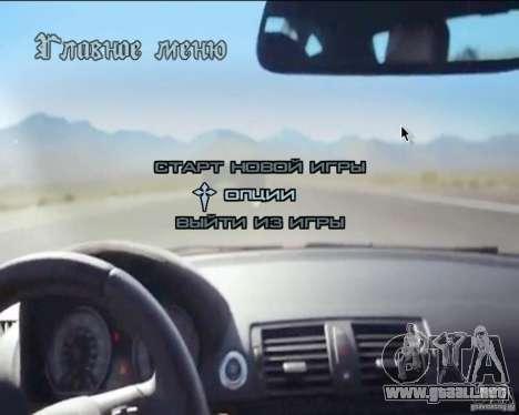 En el menú de video de fondo para GTA San Andreas sexta pantalla