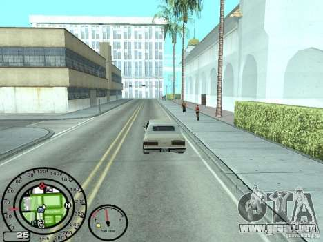 Velocímetro con el indicador de combustible para GTA San Andreas tercera pantalla