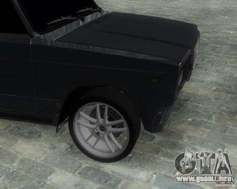 VAZ 2107 Drift Enablet Editional i3 para GTA San Andreas vista posterior izquierda