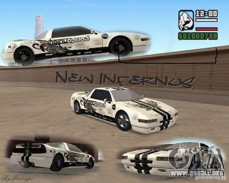 new Infernus Skin para GTA San Andreas