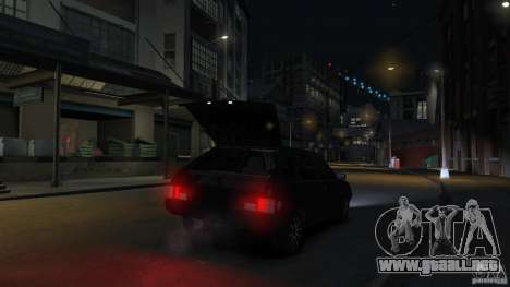 VAZ 2109 luz tuning para GTA 4 vista desde abajo