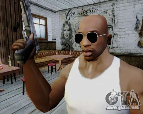 Gafas de sol aviador negro para GTA San Andreas segunda pantalla